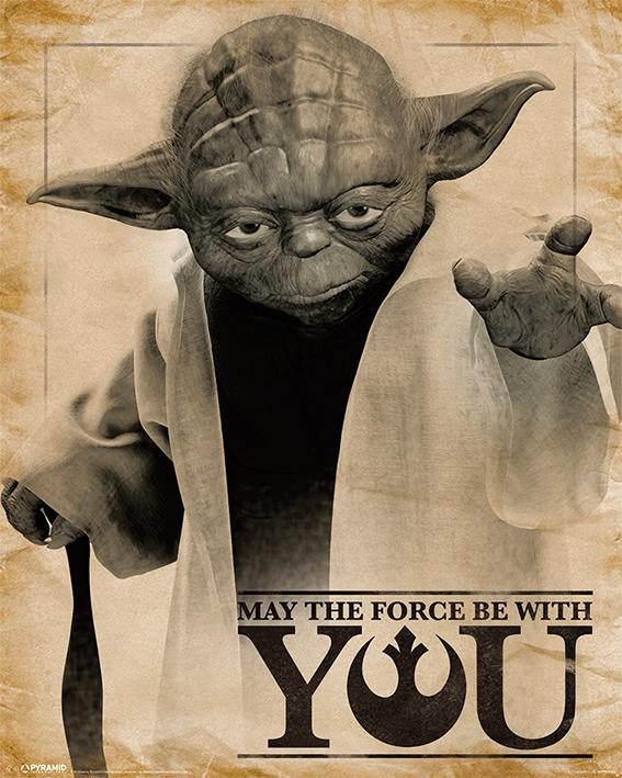 STAR WARS - Mini Poster 40X50 - May the force be with you