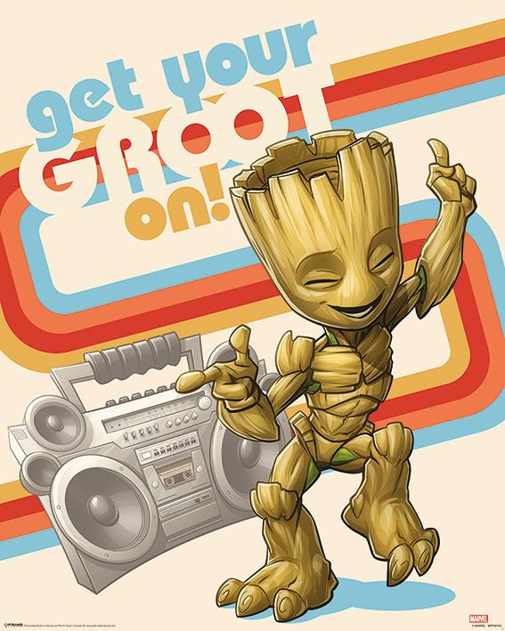MARVEL - Mini Poster 40X50 - Guardian of the Galaxy Get Your Groot On