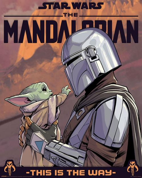 THE MANDALORIAN - Hello Little One - Mini Poster 40x50cm