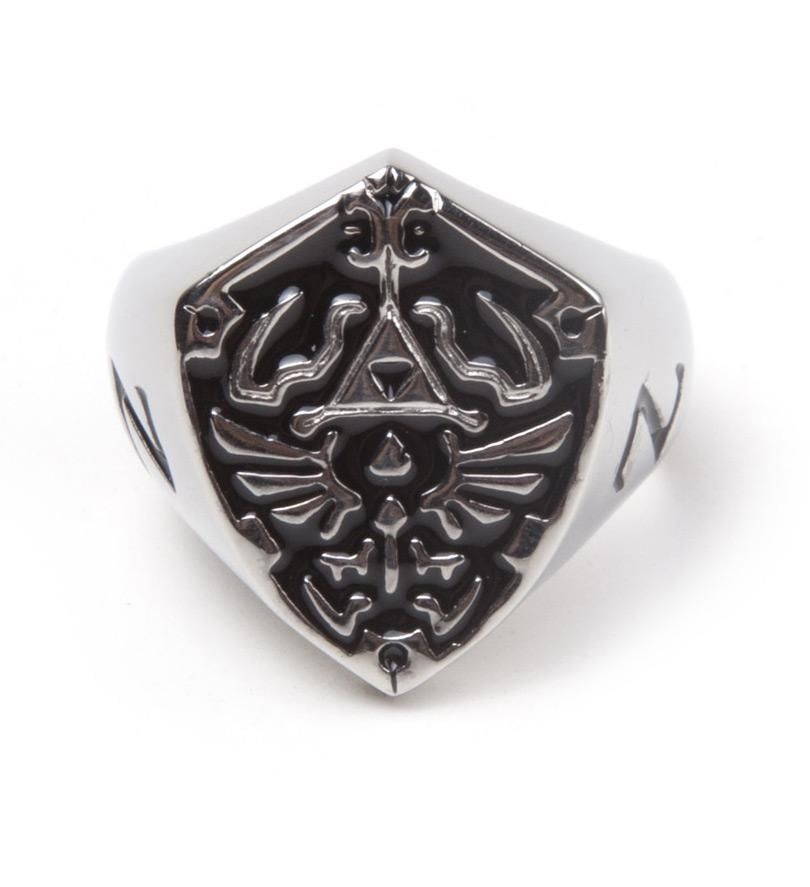 ZELDA - Hyrule Signet Metal Shield Ring (L)