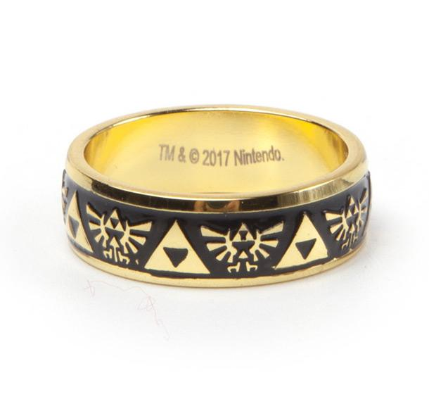 ZELDA - Gold Engraved Ring (L)