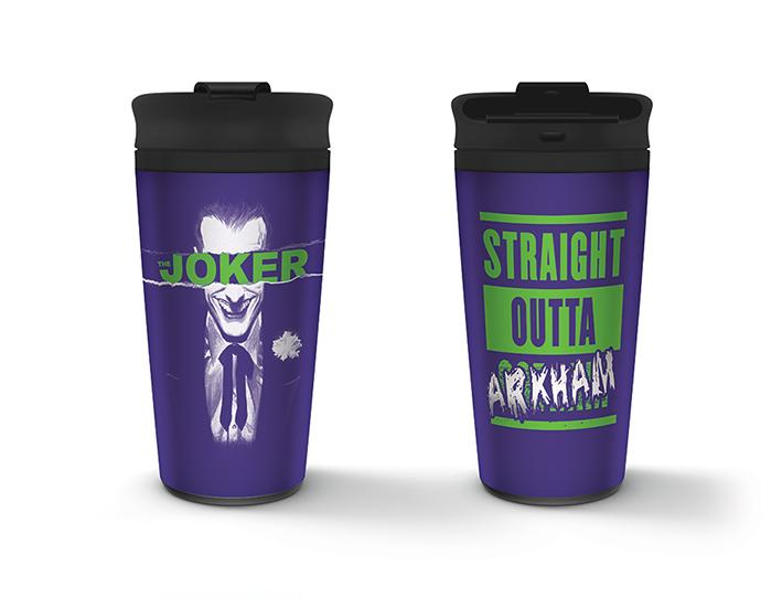 THE JOKER - Metal Travel Mug 450 ml - Straight Outta Arkham