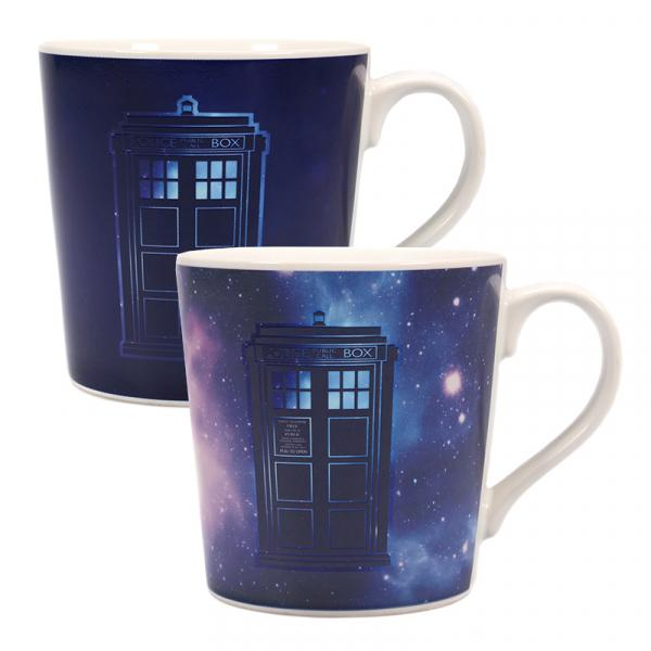 DOCTOR WHO - Heat Changing Tapered Mug 350ml - Galaxy