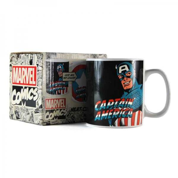 MARVEL - Mug Thermique - 400 ml - Captain America