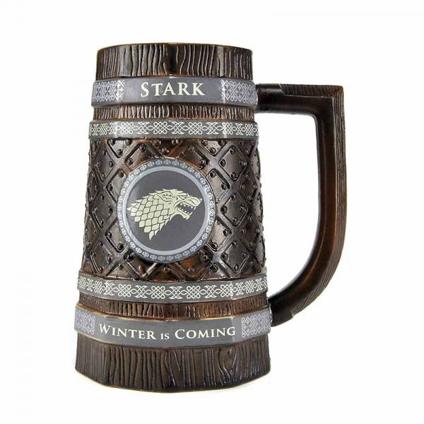GAME OF THRONES - Embossed Stein Mug 900 ml - Stark