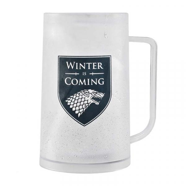 GAME OF THRONES - Freezer Tankard 400 ml - Stark 'Winter is Coming'