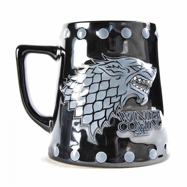 GAME OF THRONES - Tankard Mug 650 ml - Stark Stud Relief_2