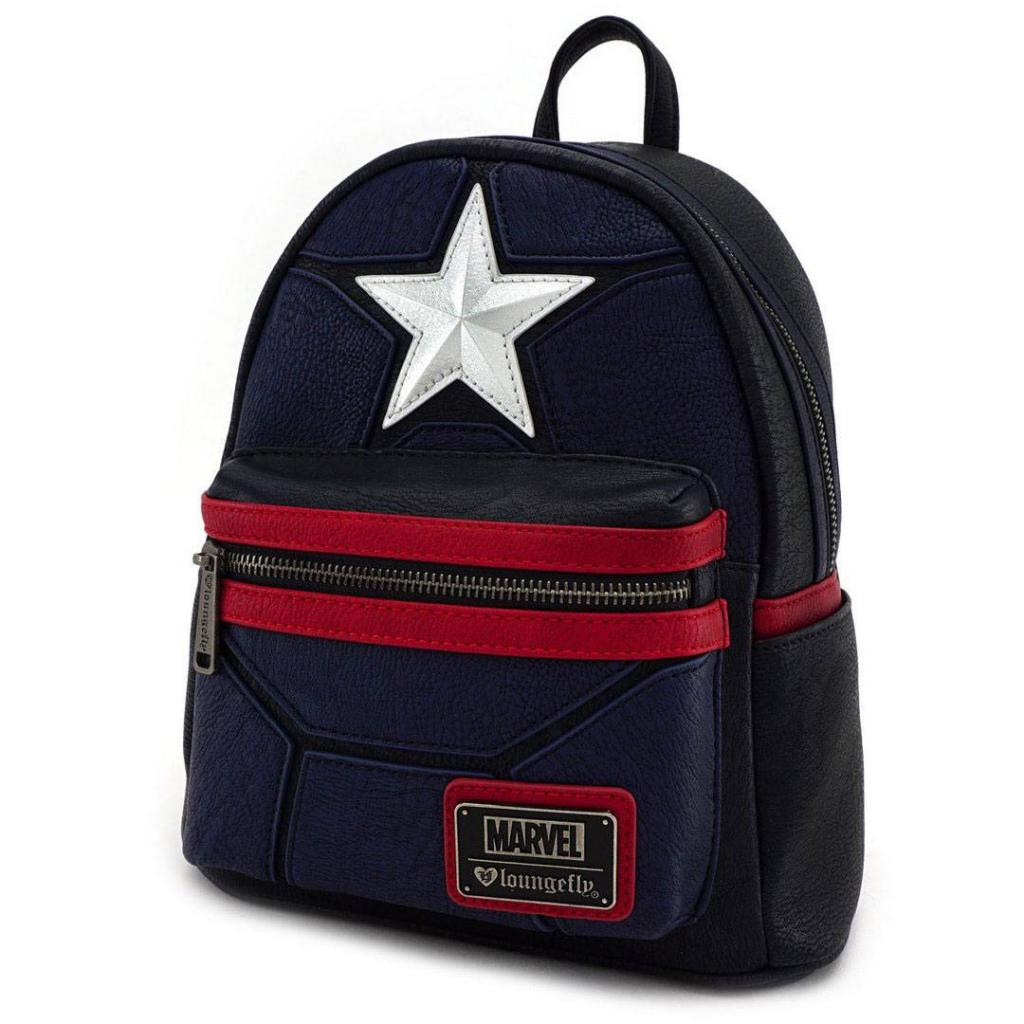 MARVEL - Captain America Cosplay Mini Backpack 'LoungeFly'