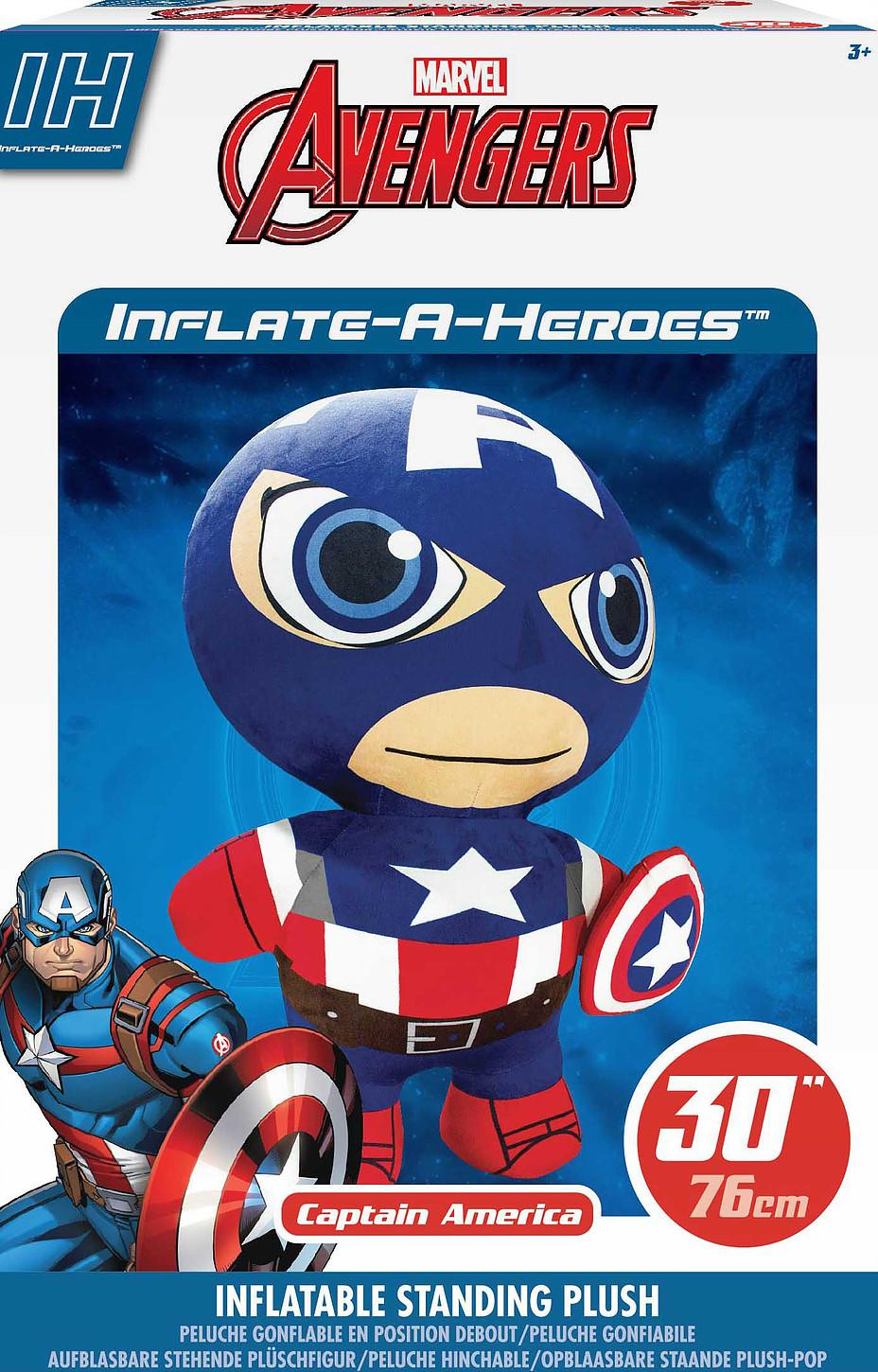 MARVEL - Peluche Gonflable - Captain America 76cm