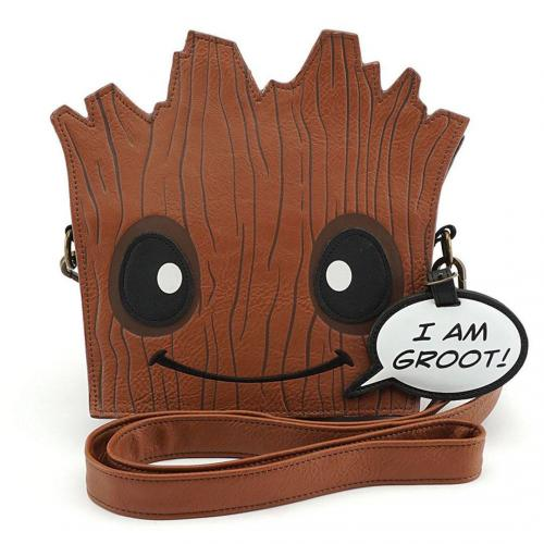 MARVEL - Sac bandoulière Groot Face 'LoungeFly'