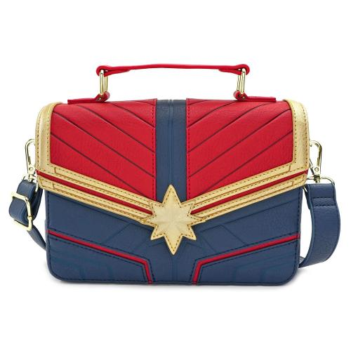 MARVEL - Sac bandoulière Captain Marvel 'LoungeFly'