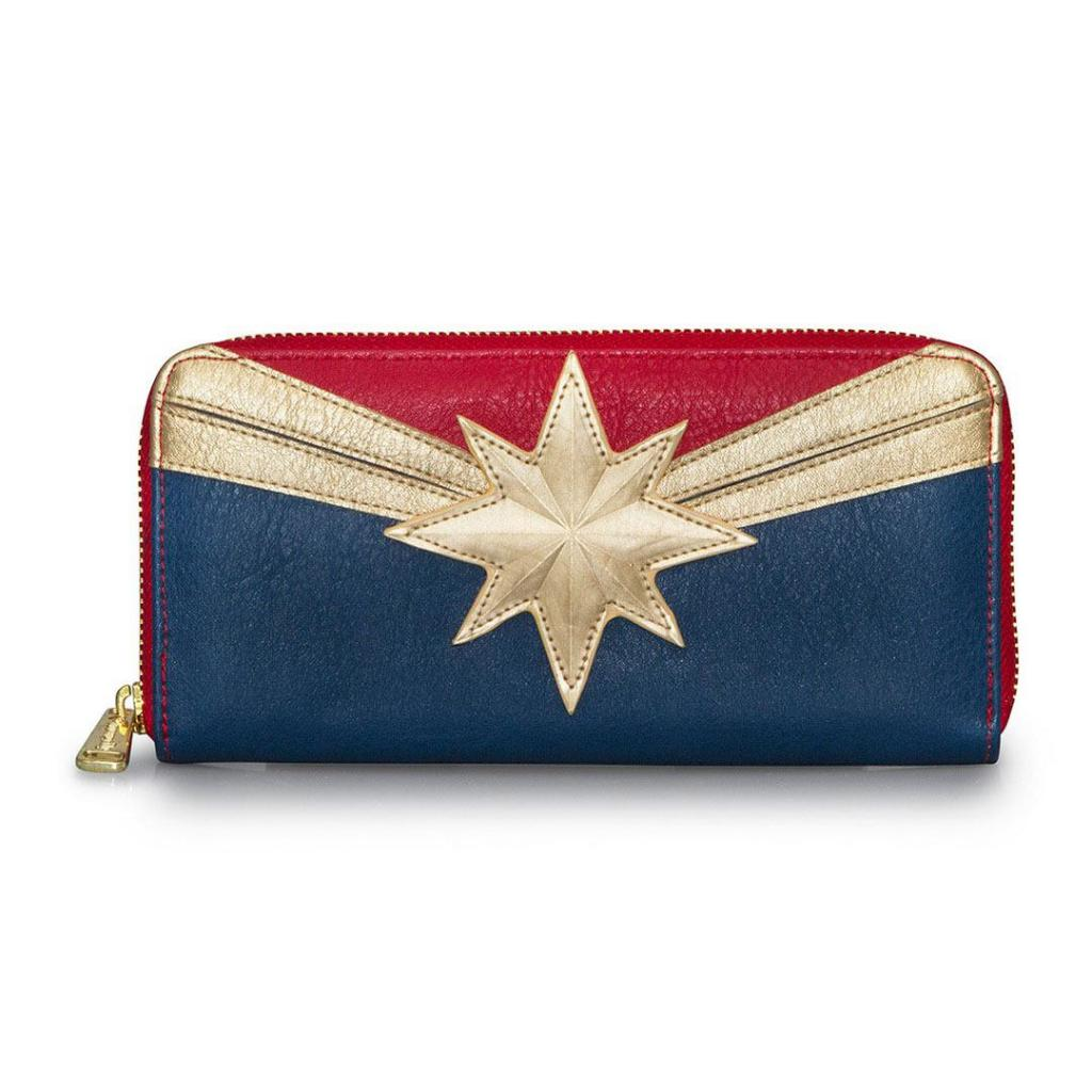 MARVEL - Captain Marvel Zip Around Wallet 'LoungeFly'