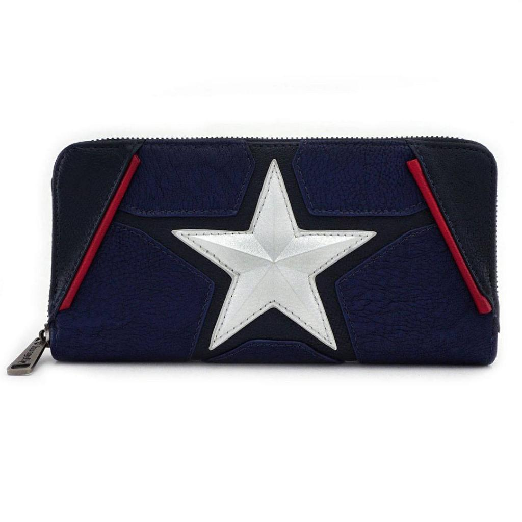 MARVEL - Captain America Cosplay Zip Around Wallet 'LoungeFly'