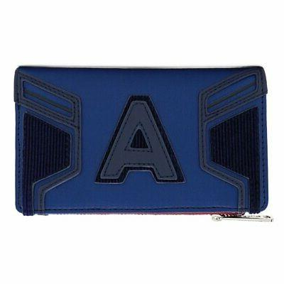 CAPTAIN AMERICA - End Game Hero Flap Wallet 'LoungeFly'