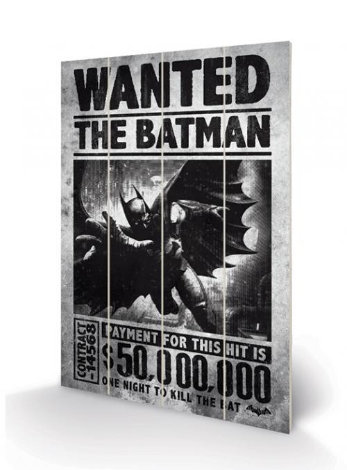 DC COMICS - Batman Arkham Origins Wanted - Impression sur bois 20x29.5