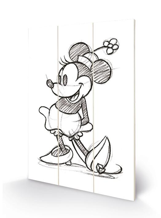 DISNEY - Minnie Mouse Sketched - Impression sur bois 20x29.5_1