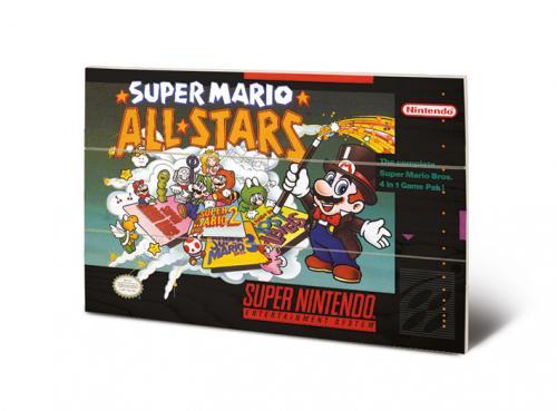 SUPER NINTENDO - All Stars - Impression sur bois 20x29.5
