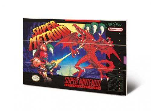 SUPER NINTENDO - Super Metroid - Impression sur bois 20x29.5