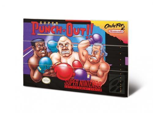 SUPER NINTENDO - Super Punch Out - Impression sur bois 20x29.5