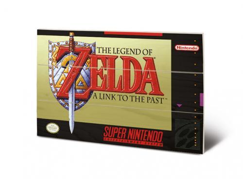 SUPER NINTENDO - The Legend of Zelda - Impression sur bois 20x29.5