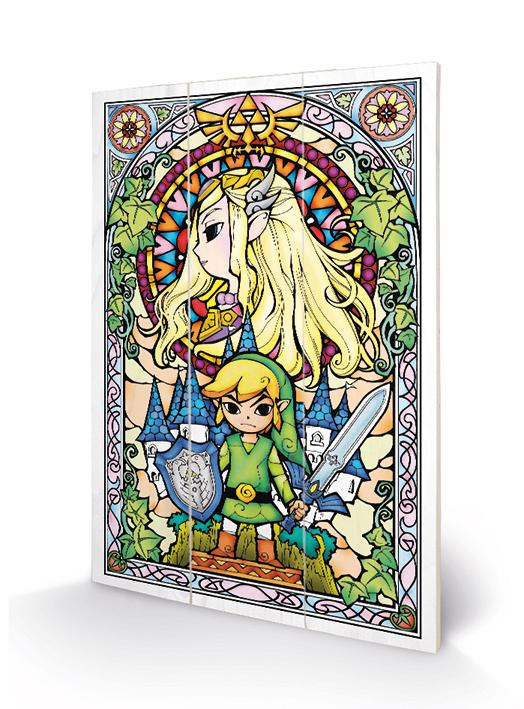THE LEGEND OF ZELDA - Stained Glass - Impression sur bois 20x29.5_1