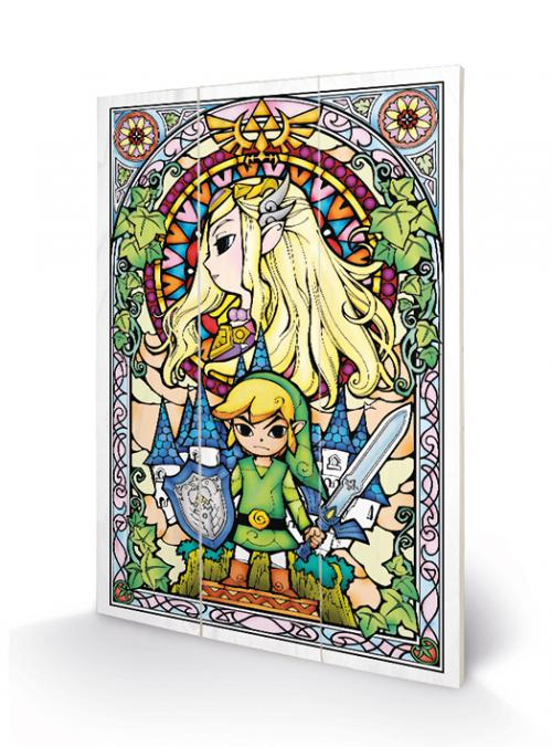 THE LEGEND OF ZELDA - Stained Glass - Impression sur bois 20x29.5
