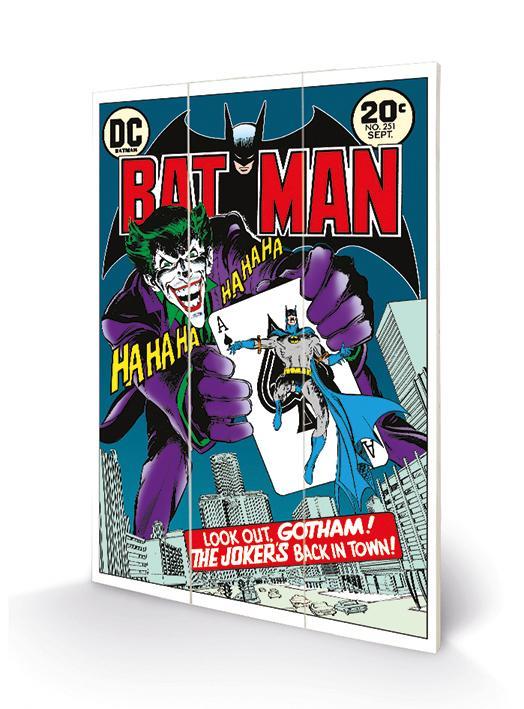 DC COMICS - Batman Joker's Back in Town - Impression sur bois 20x29.5_1