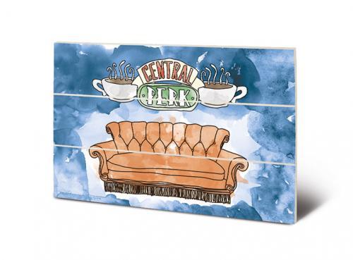 FRIENDS - Impression sur Bois 20x29.5 - Central Perk Sofa