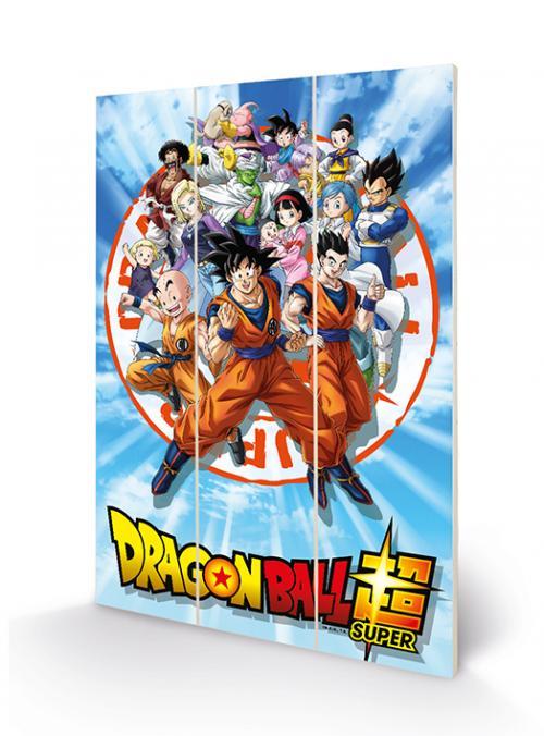 DRAGON BALL Z - Goku & the Z Fighters - Impression sur bois 20x29.5