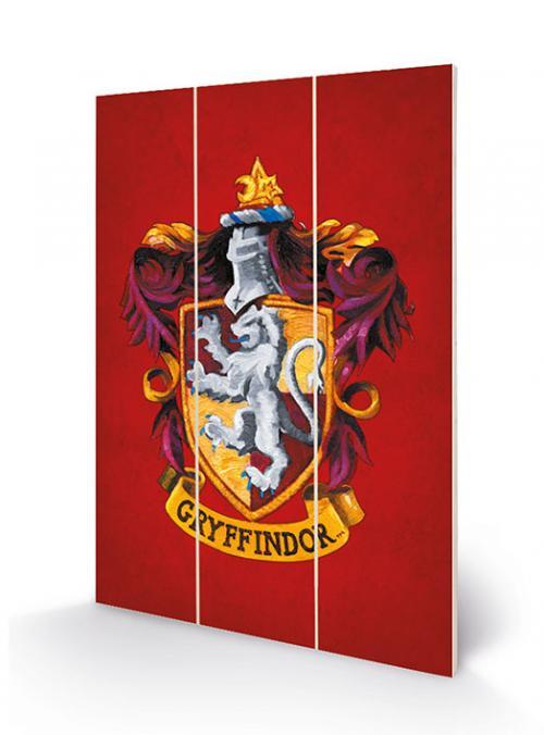 HARRY POTTER - Gryffindor Crest - Impression sur bois 20x29.5