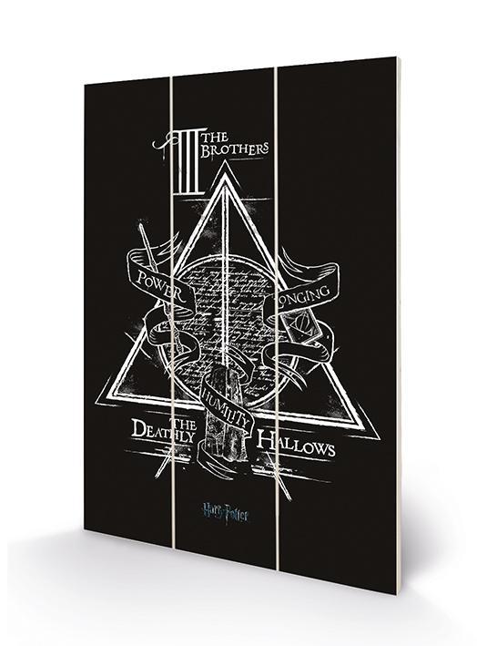 HARRY POTTER - Deathly Hallows - Impression sur bois 20x29.5_1
