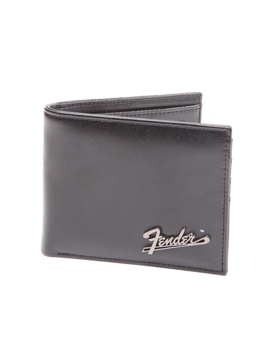 FENDER  - Bifold Wallet with Metal Plata Logo