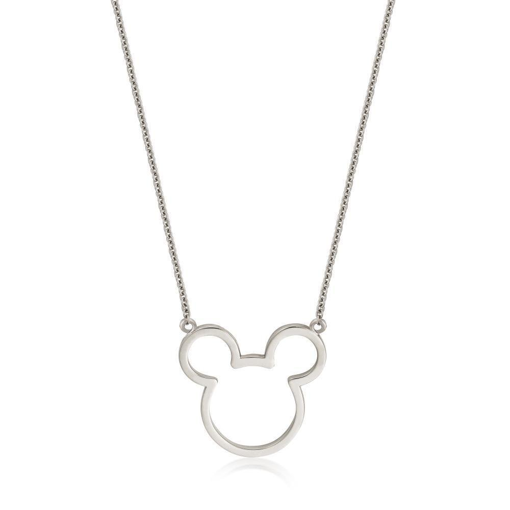 DISNEY METAL PRECIOUS - Mickey Outline Necklace 'Sterling Silver'