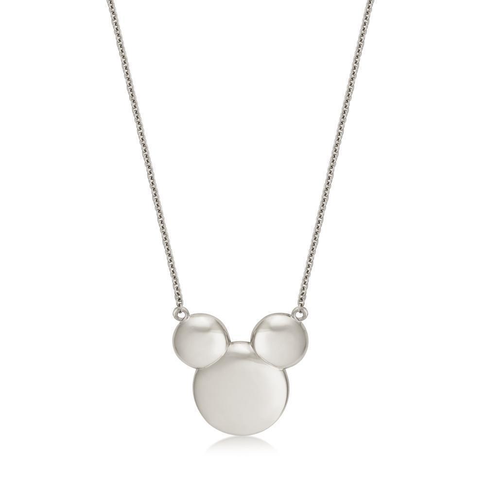 DISNEY METAL PRECIOUS - Solid Mickey Necklace 'Sterling Silver'
