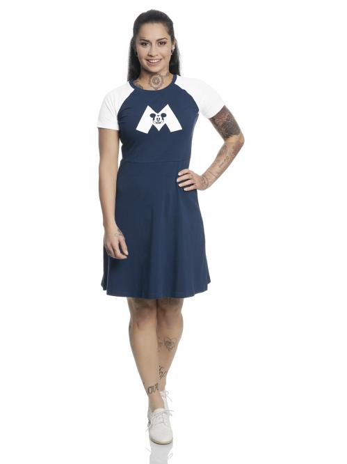 DISNEY - Mickey Mouse M College Dress Navy/White (S)