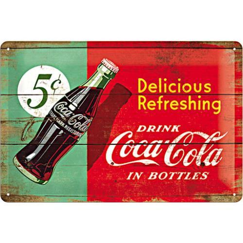 COCA-COLA - 1950 beverage - Plaque métal '20x30cm'