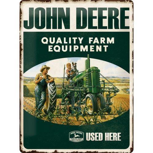 JOHN DEERE - Quality Equipment - Plaque métal '30x40cm'