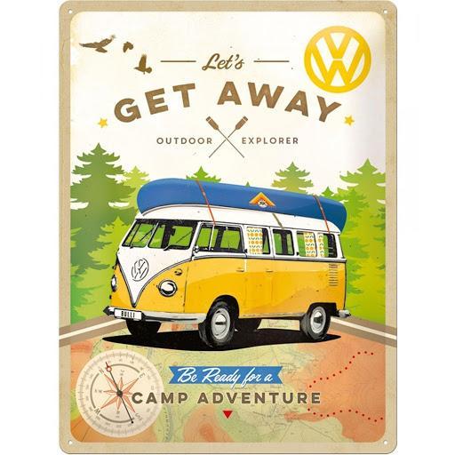 VW - Let's Get Away - Plaque métal '30x40cm'_1