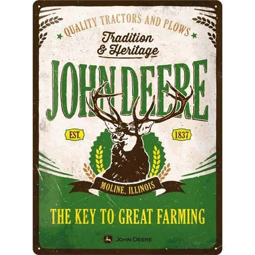 JOHN DEERE - Tradition & Heritage - Plaque métal '30x40cm'