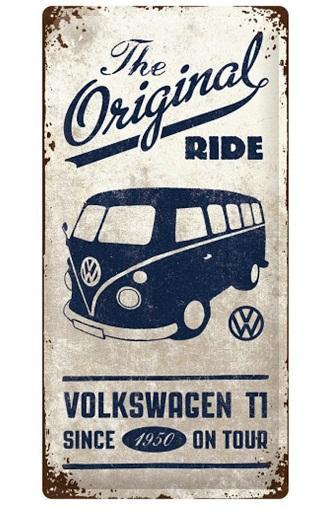 VW - The Original Ride - Plaque métal '25x50cm'_1