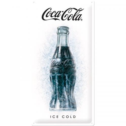 COCA-COLA - Ice - Plaque métal '25x50cm'