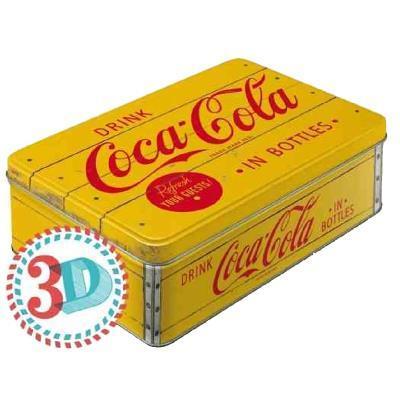 COCA-COLA - Yellow - Boîte métal '23x16x7cm'