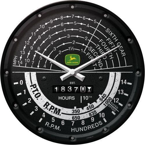 JOHN DEERE - Tacho - Horloge murale diam. 31cm