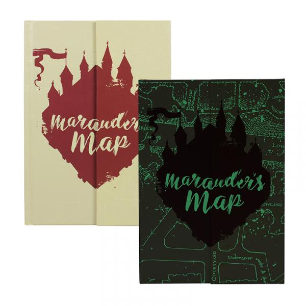 HARRY POTTER - NoteBook A5 - Marauders Map 'Glow in the Dark'
