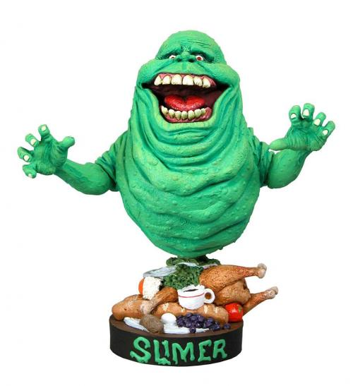 SOS FANTÔMES - Slimer - Figurine Head Knocker 18cm