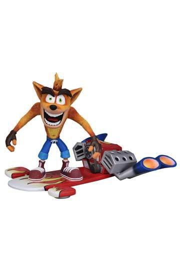 CRASH BANDICOOT - Action Figure - Deluxe Hoverboard Crash - 18cm