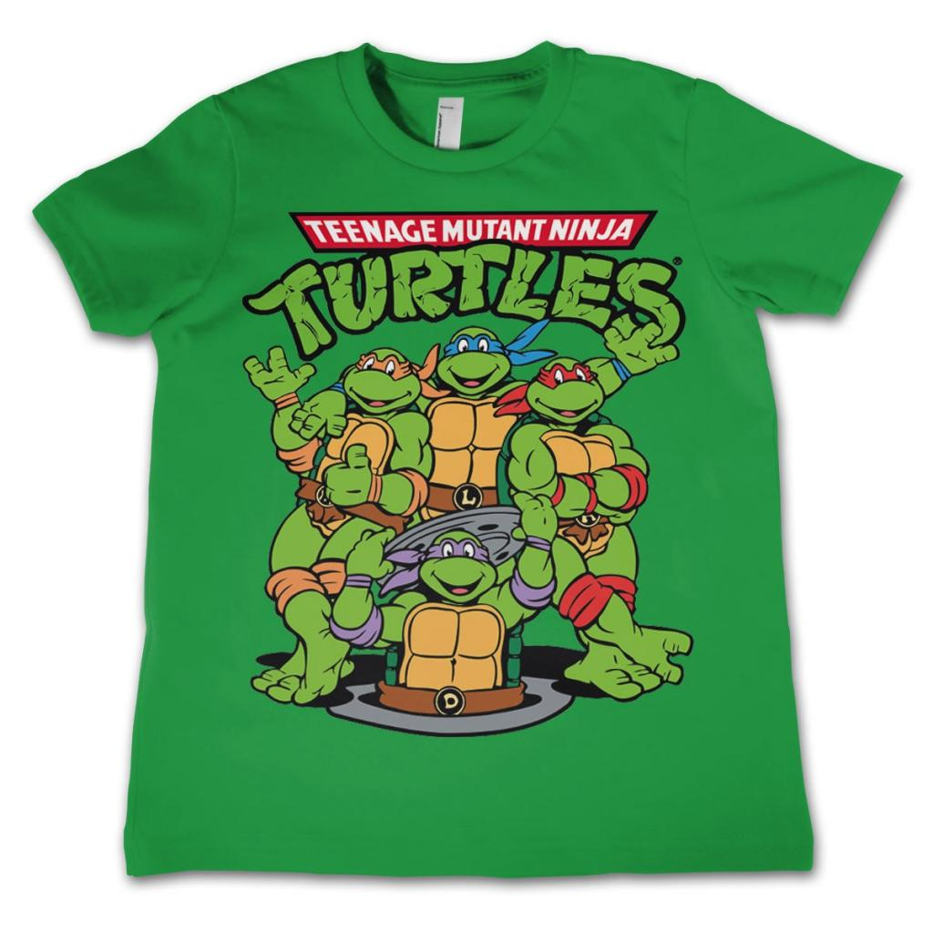TMNT - T-Shirt KIDS TMNT Group - Green (10 Years)