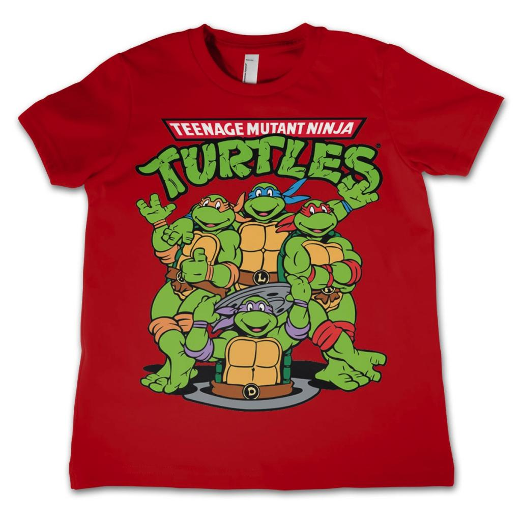 TMNT - T-Shirt KIDS TMNT Group - Red (10 Years)