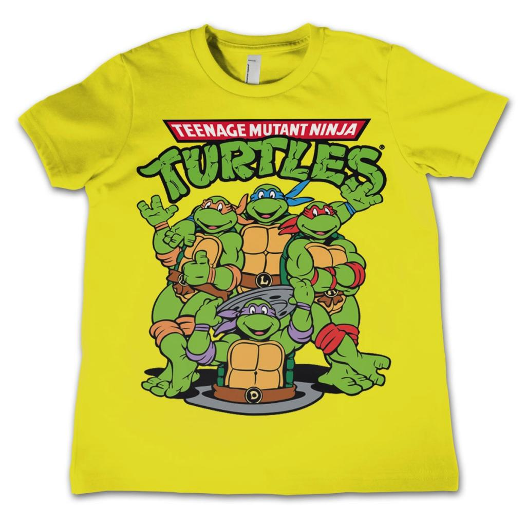 TMNT - T-Shirt KIDS TMNT Group - Yellow (10 Years)