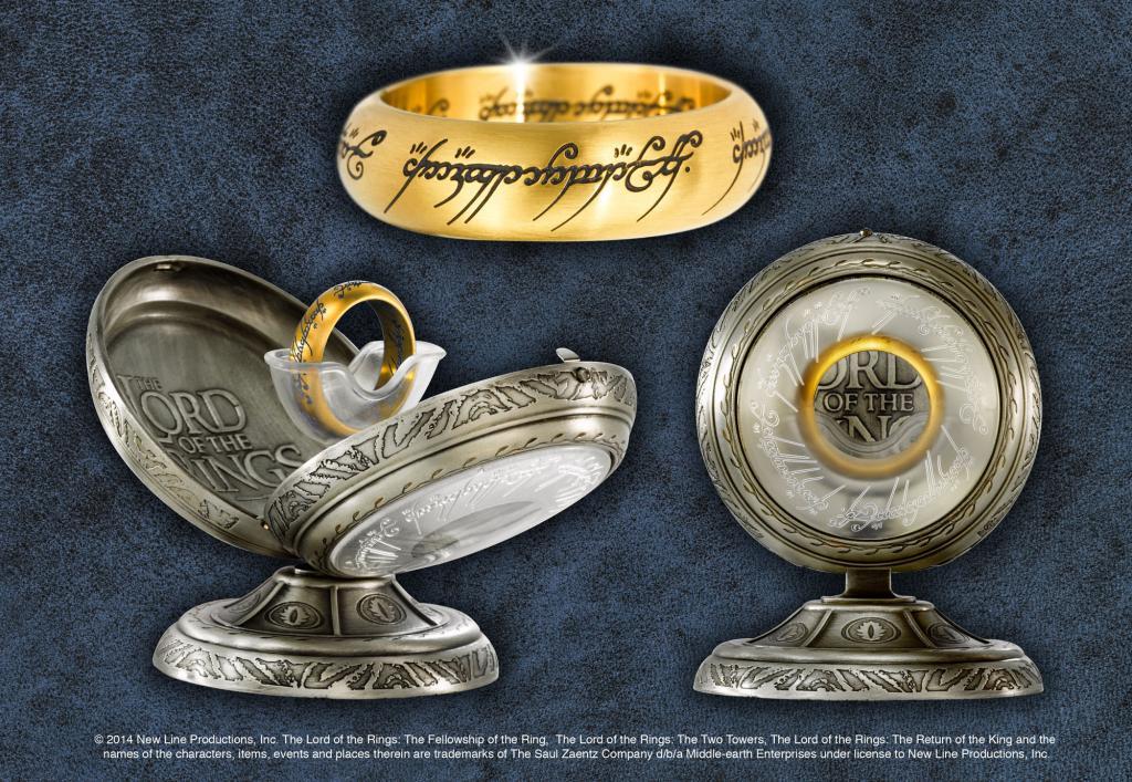 LORD OF THE RING - Anneau Unique - Acier doré - Taille US 06 FR 52.2